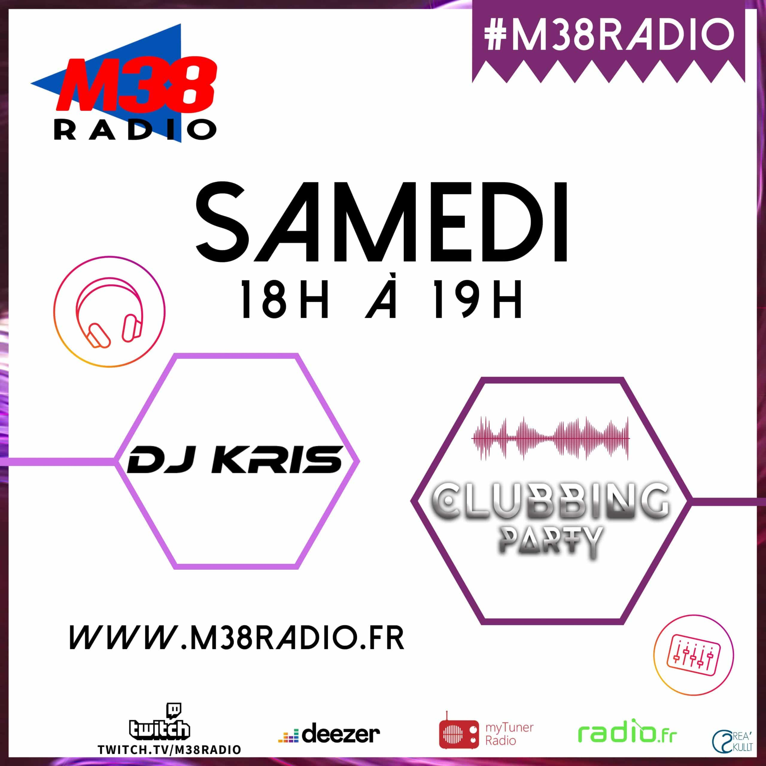 dj kris clubbing party sur m38 radio