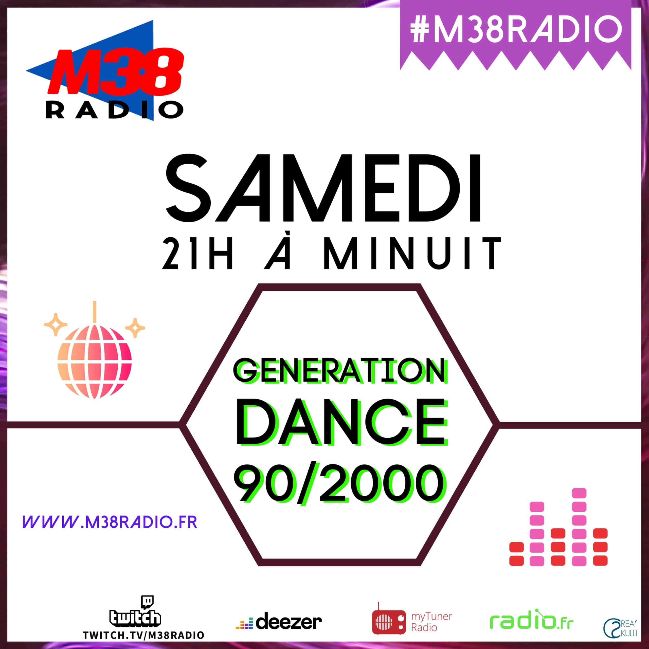 generation dance sur m38 radio
